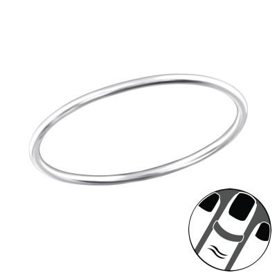 Silver 1mm Band Midi Ring