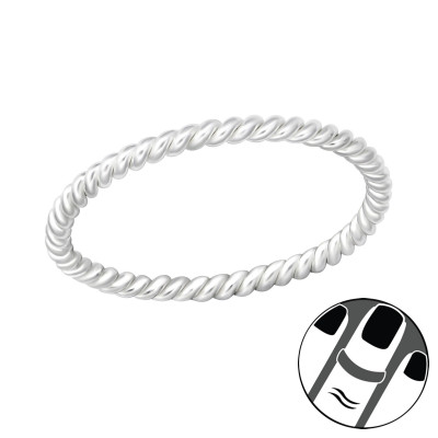 Silver Rope Midi Ring