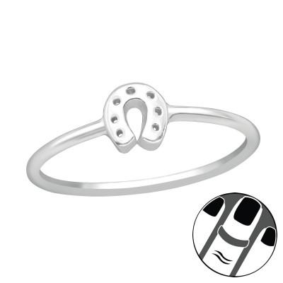 Silver Horseshoe Midi Ring