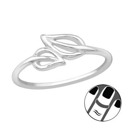 Silver Leaf Midi Ring