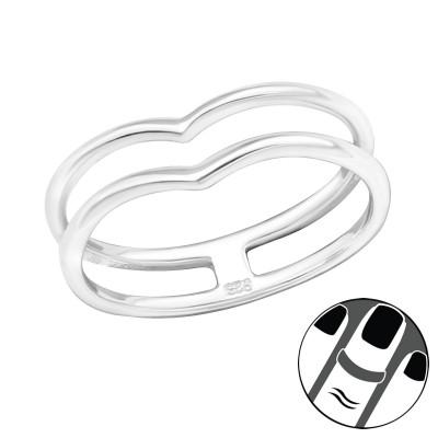 Silver Line Midi Ring