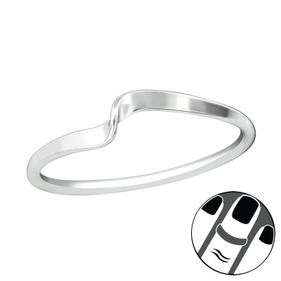 Silver Twist Midi Ring