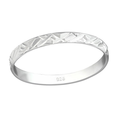 Silver Pattened Ring