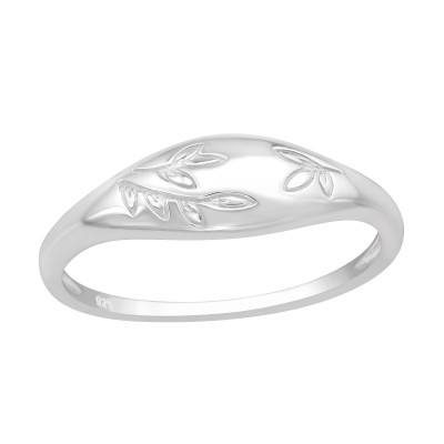 Silver Branch Leaves Ring