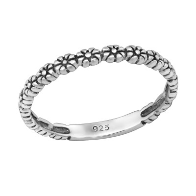 Silver Sprinkled Ring