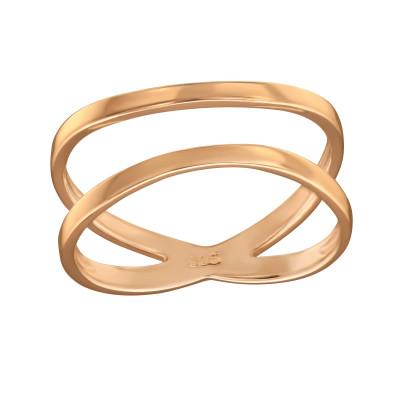 Silver Crisscross Ring