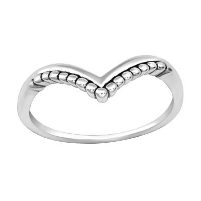 Silver V Shape Ring