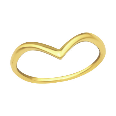 Silver V Shaped Ring