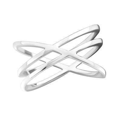 Silver Intertwining Ring