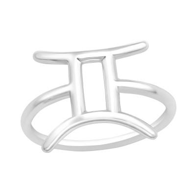 Silver Gemini Zodiac Sign Ring