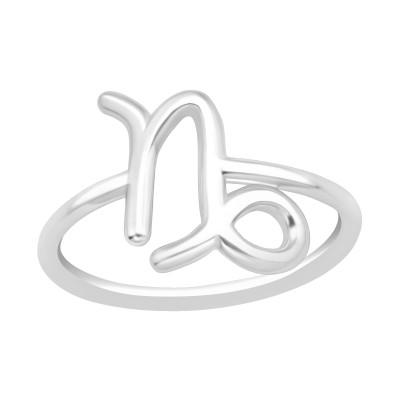 Silver Capricorn Zodiac Sign Ring