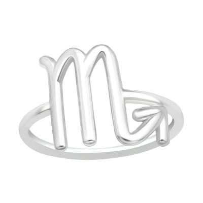 Silver Scorpio Zodiac Sign Ring