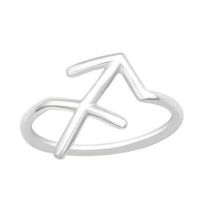 Silver Sagittarius Zodiac Sign Ring