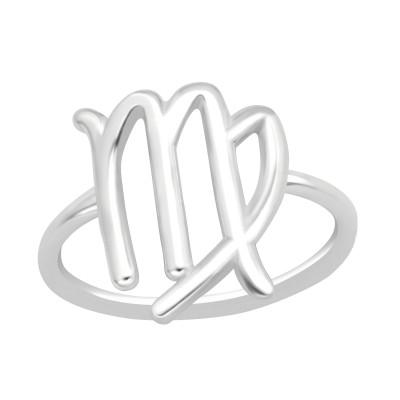 Silver Virgo Zodiac Sign Ring