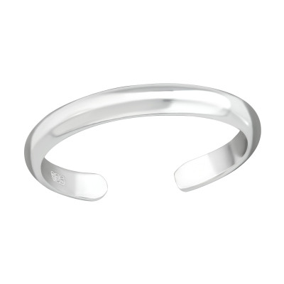 Silver 2mm Band Adjustable Toe Ring