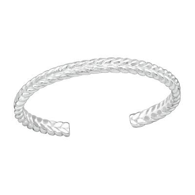 Silver Braid Adjustable Toe Ring
