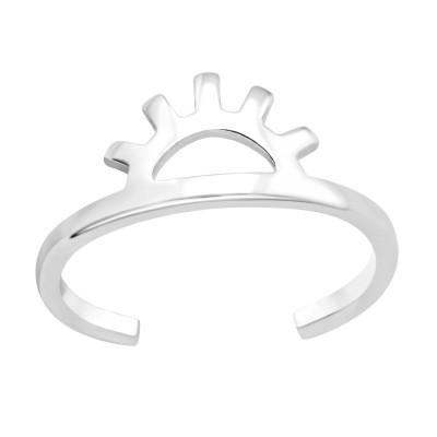 Silver Evil Eye Adjustable Toe Ring