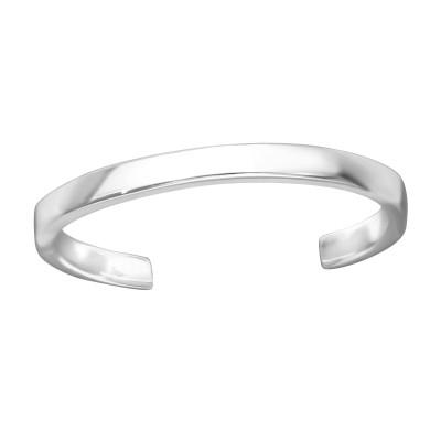 Silver Band Adjustable Toe Ring