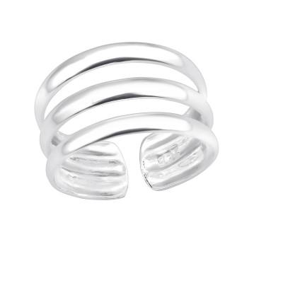 Silver Plain Adjustable Toe Ring