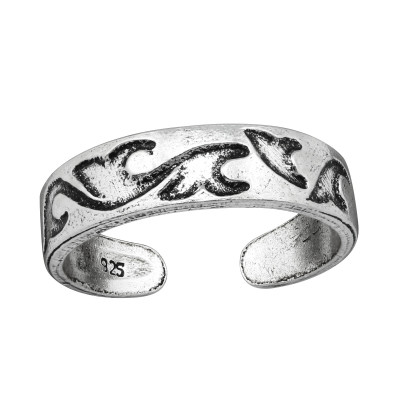 Silver Wave Adjustable Toe Ring