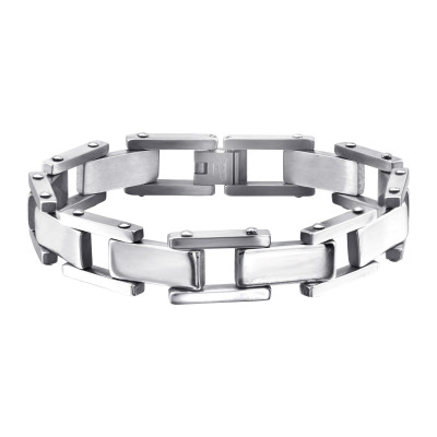 High Polish Surgical Steel Chain Bracelet for Men