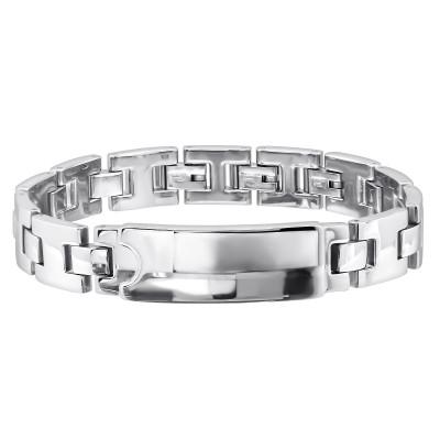 High Polish Surgical Steel Plain Bracelet for Men