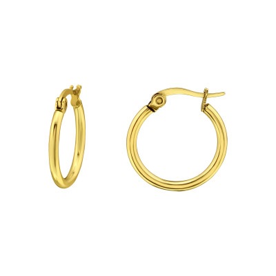 Gold Surgical Steel 15mm Hoops