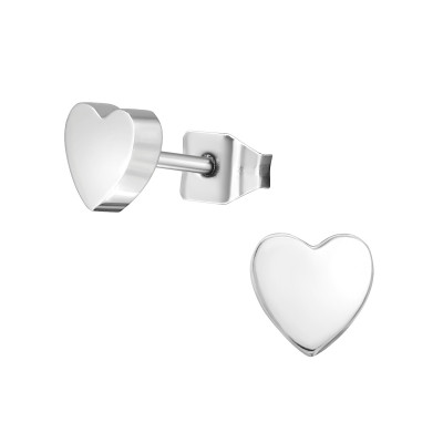 Titanium Heart Ear Studs