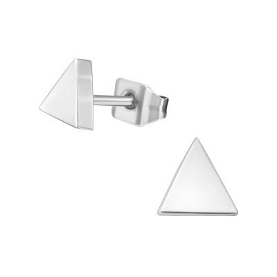 Titanium Triangle Ear Studs