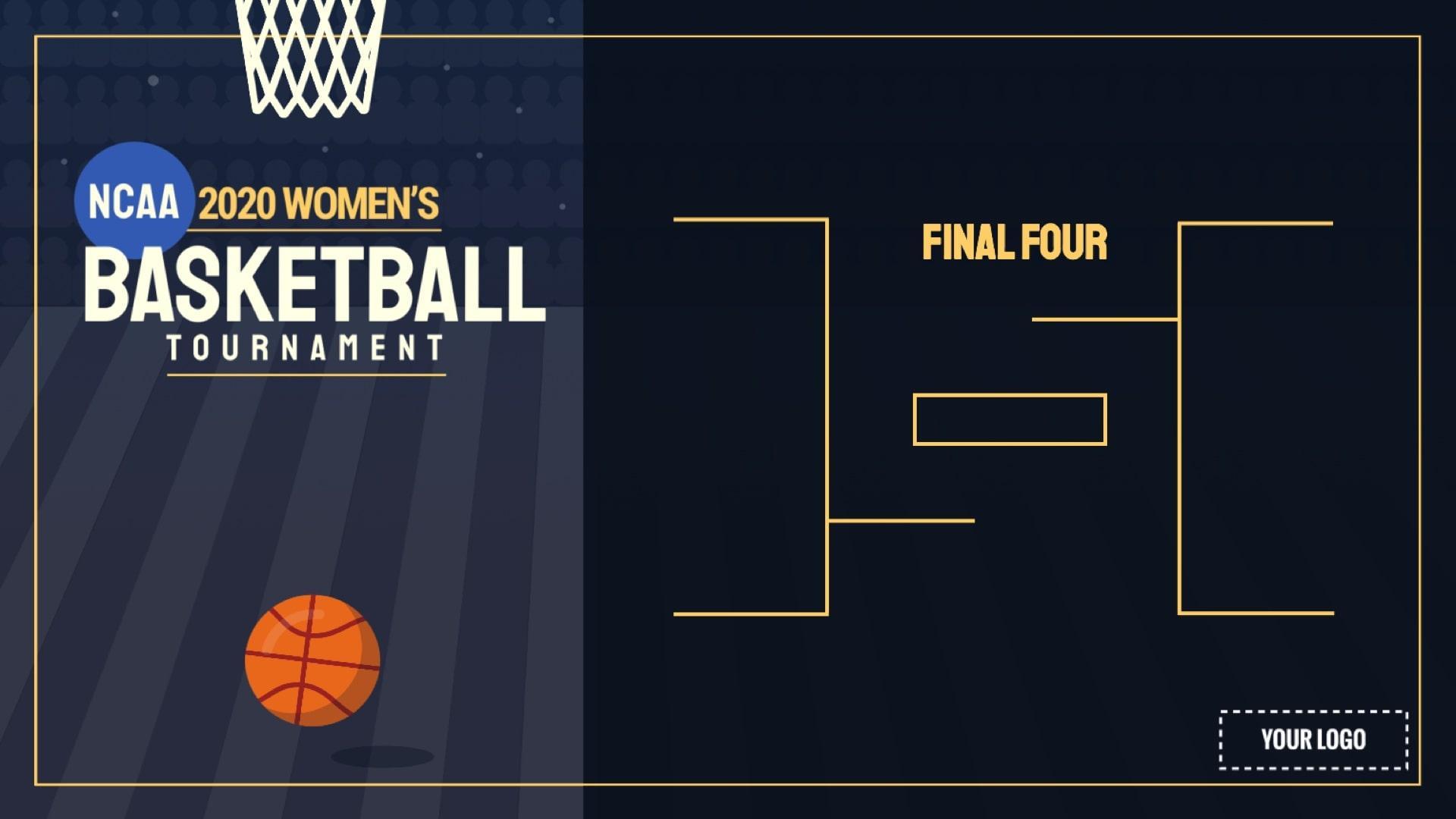 2020 NCAA Women's Tournament Digital Signage Template
