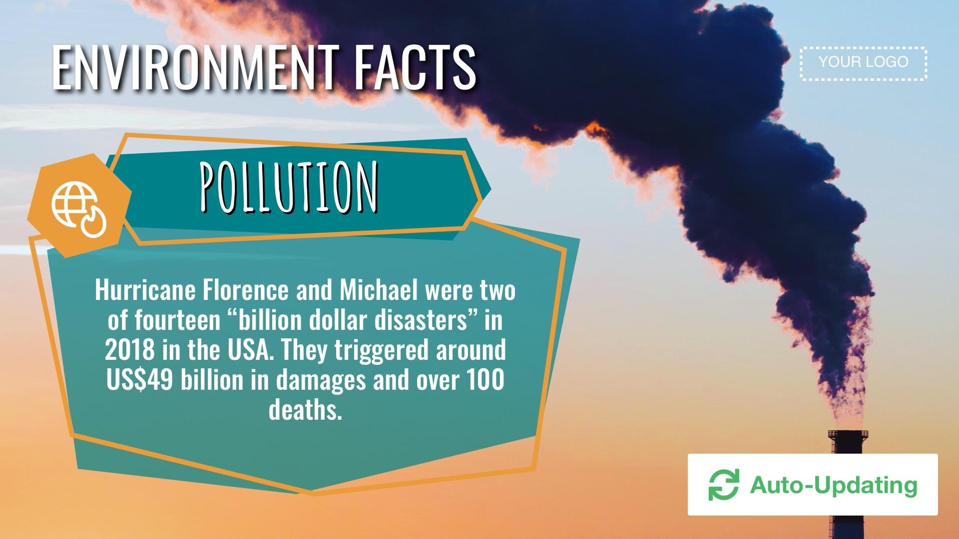 Environmental Issue Facts Digital Signage Template