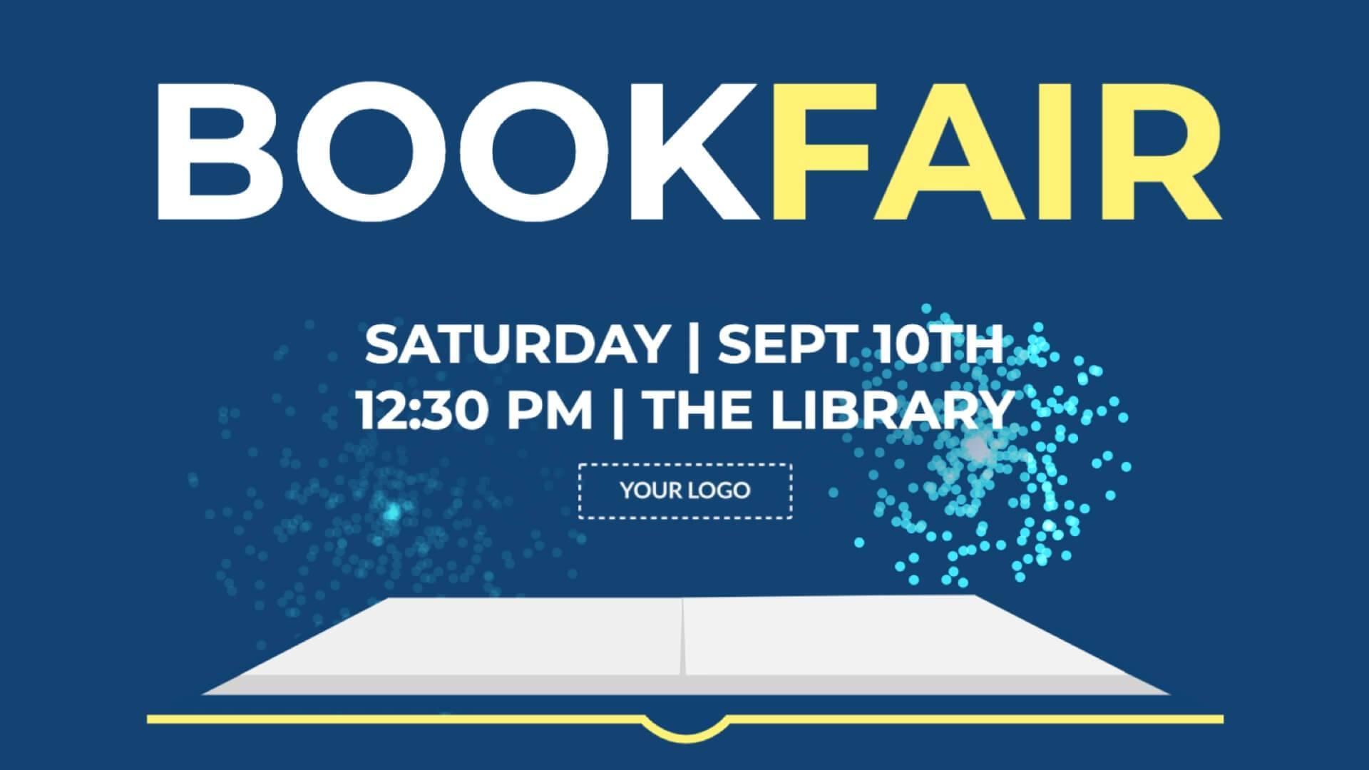 Announcement Book Fair Digital Signage Template