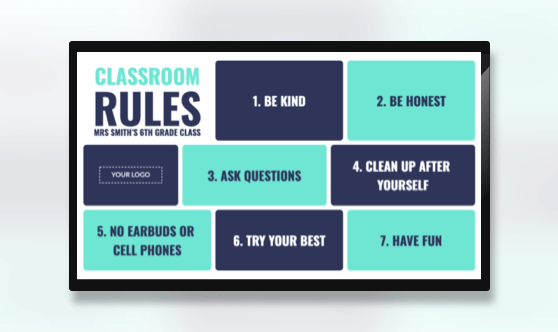Announcement Classroom Rules