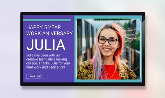 Announcement Employee Anniversary