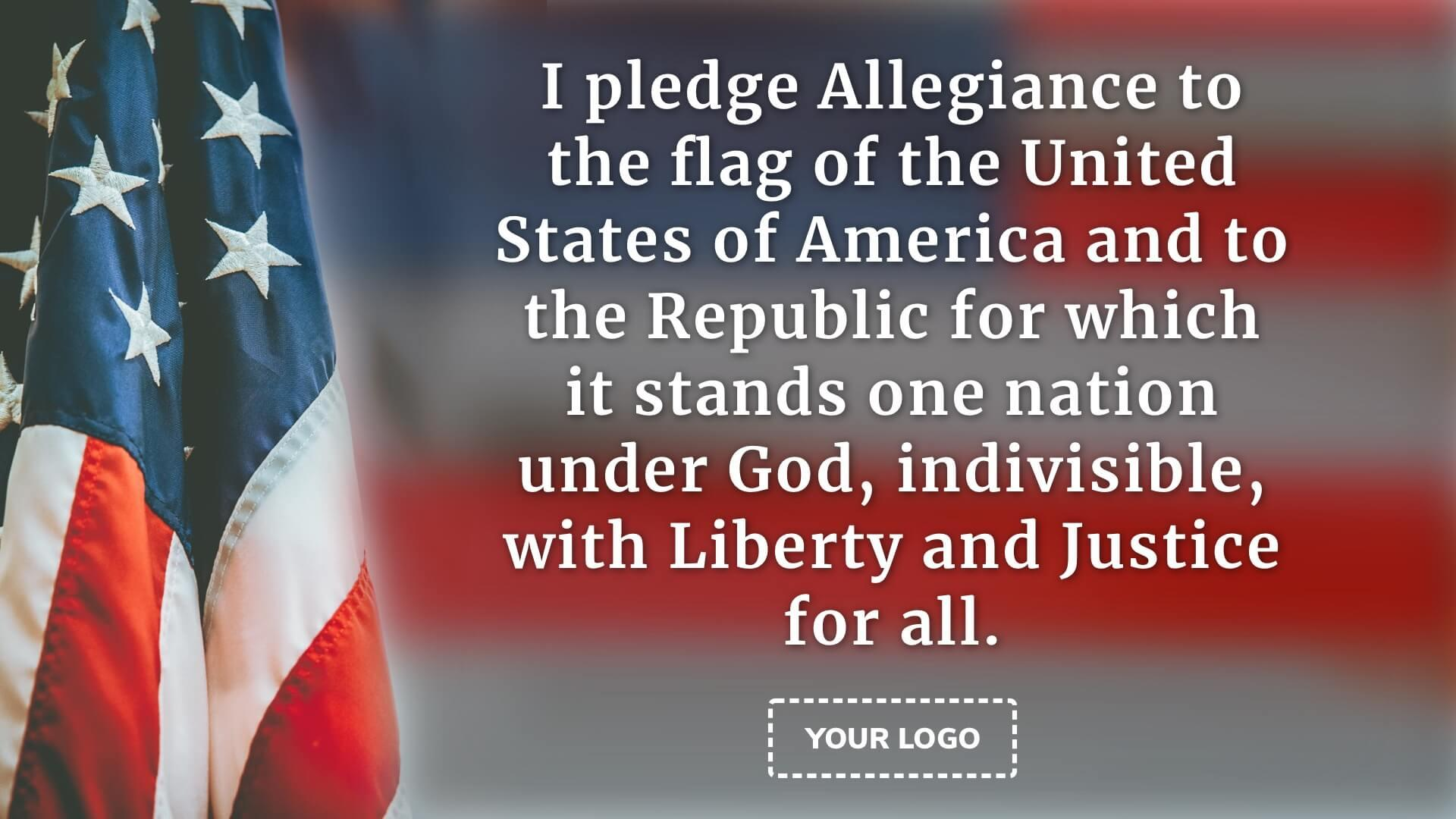 Pledge of Allegiance Digital Signage Template