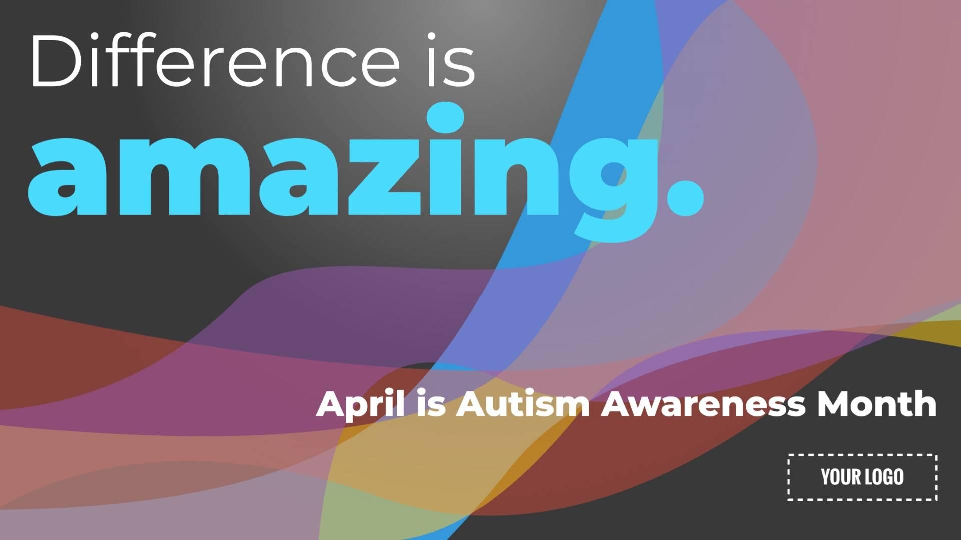 Autism Awareness Month Digital Signage Template