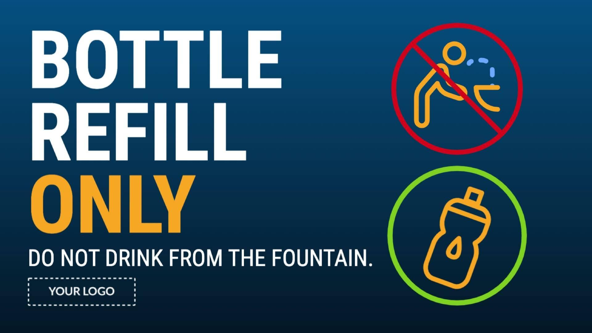 Campaign Bottle Refill Digital Signage Template