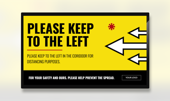 Campaign Keep Left Text