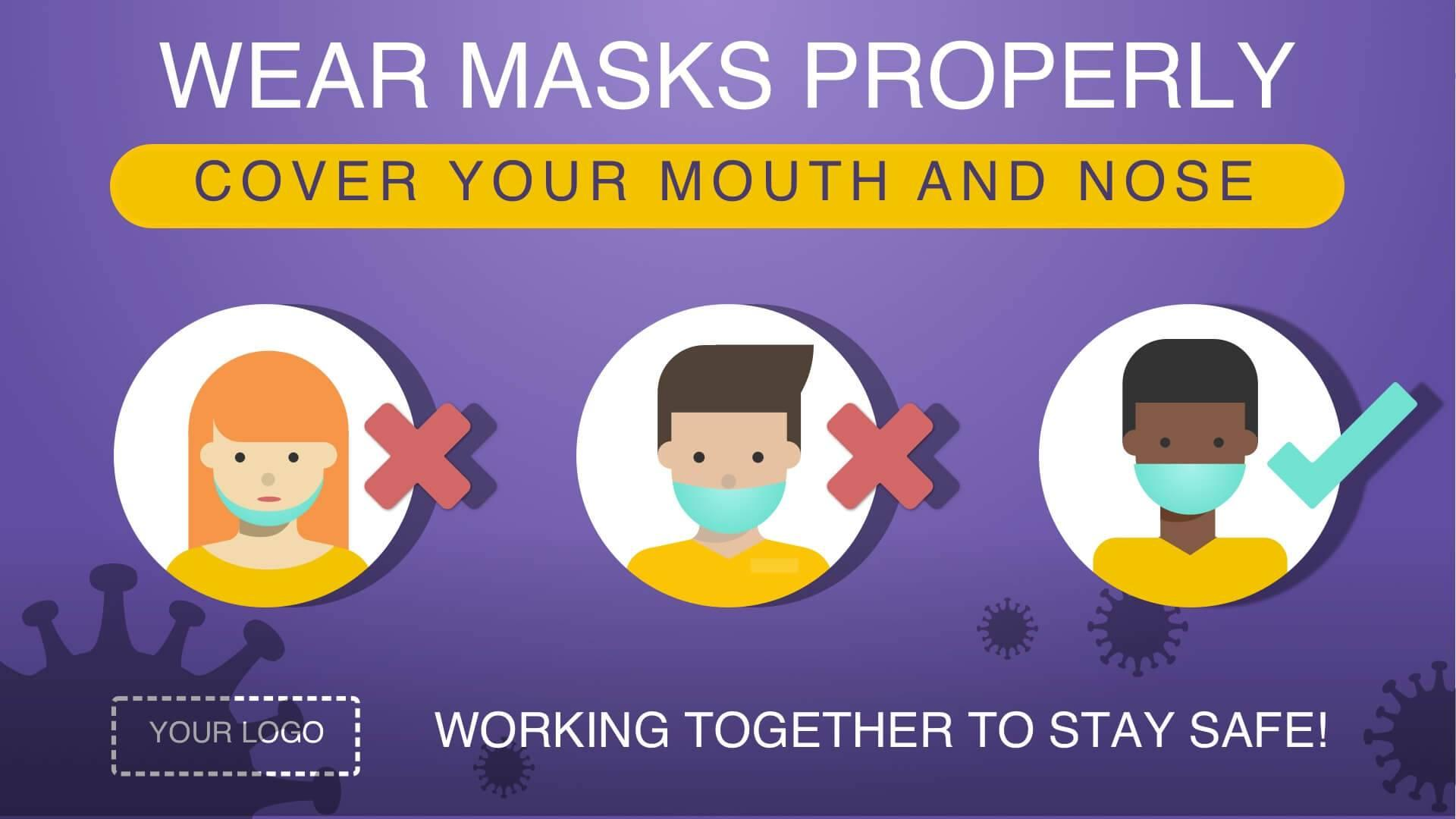 Campaign How To Wear Masks Properly Digital Signage Template
