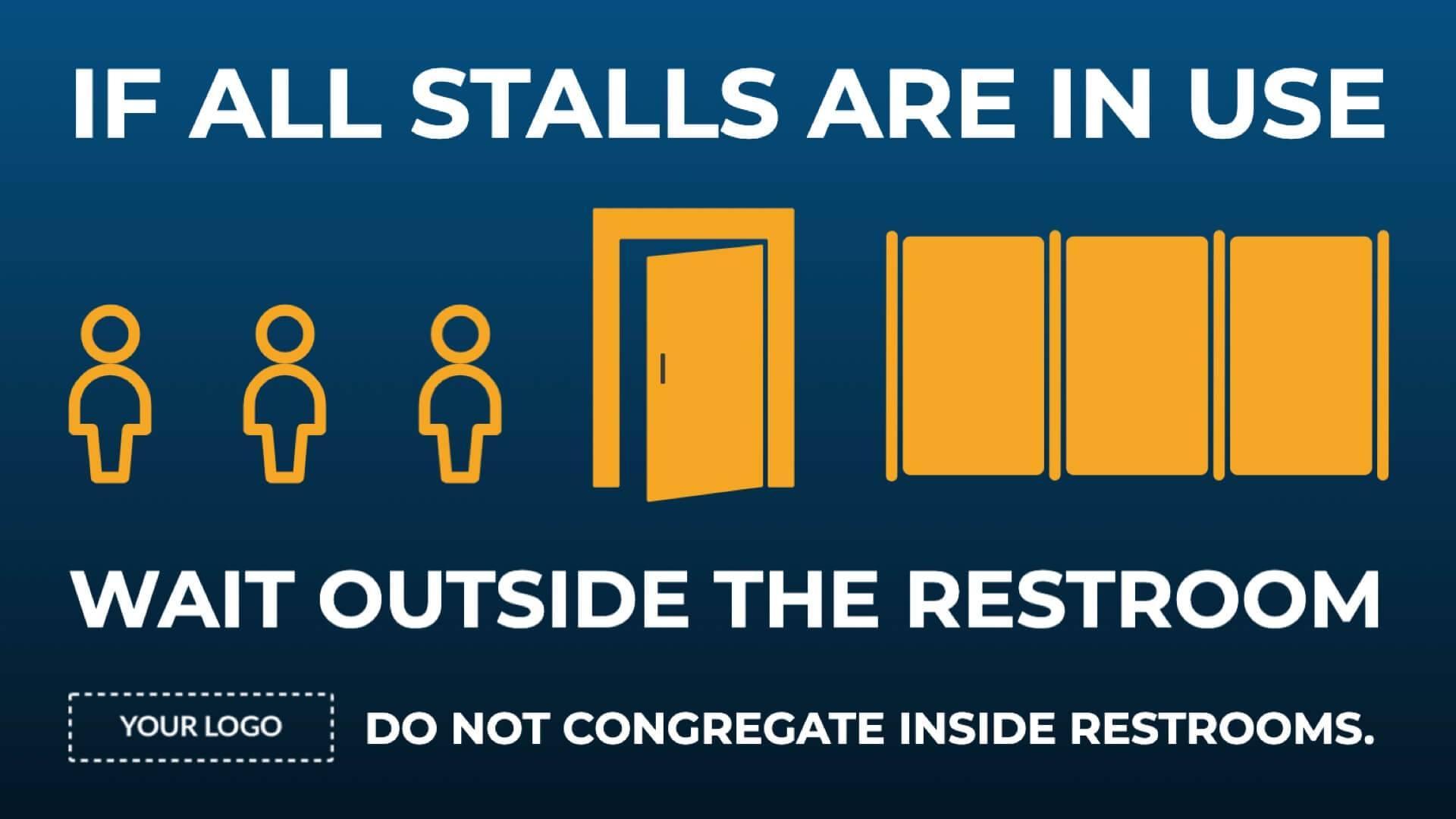 Campaign Restroom Lineup Digital Signage Template