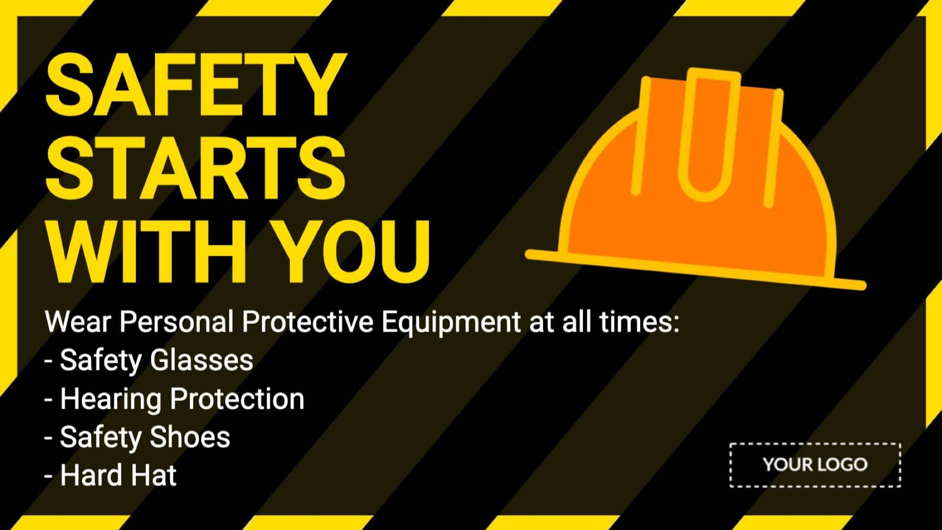 Campaign Safety First Digital Signage Template