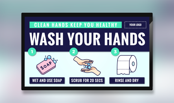 Campaign Wash Hands Text & Image