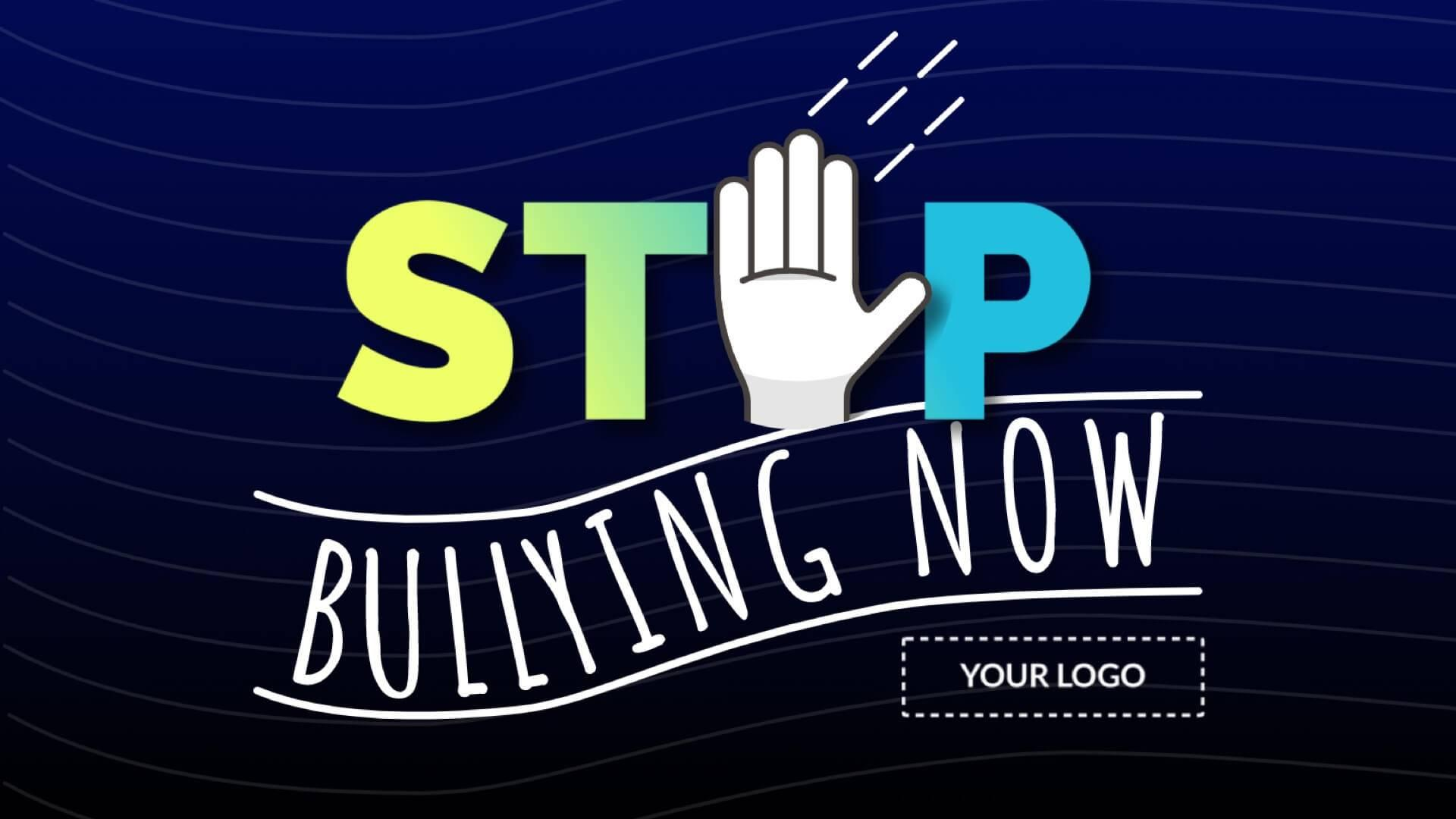 Stop Bullying Digital Signage Template