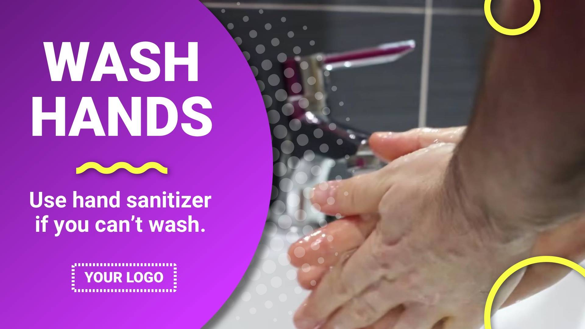 Wash Your Hands Digital Signage Template