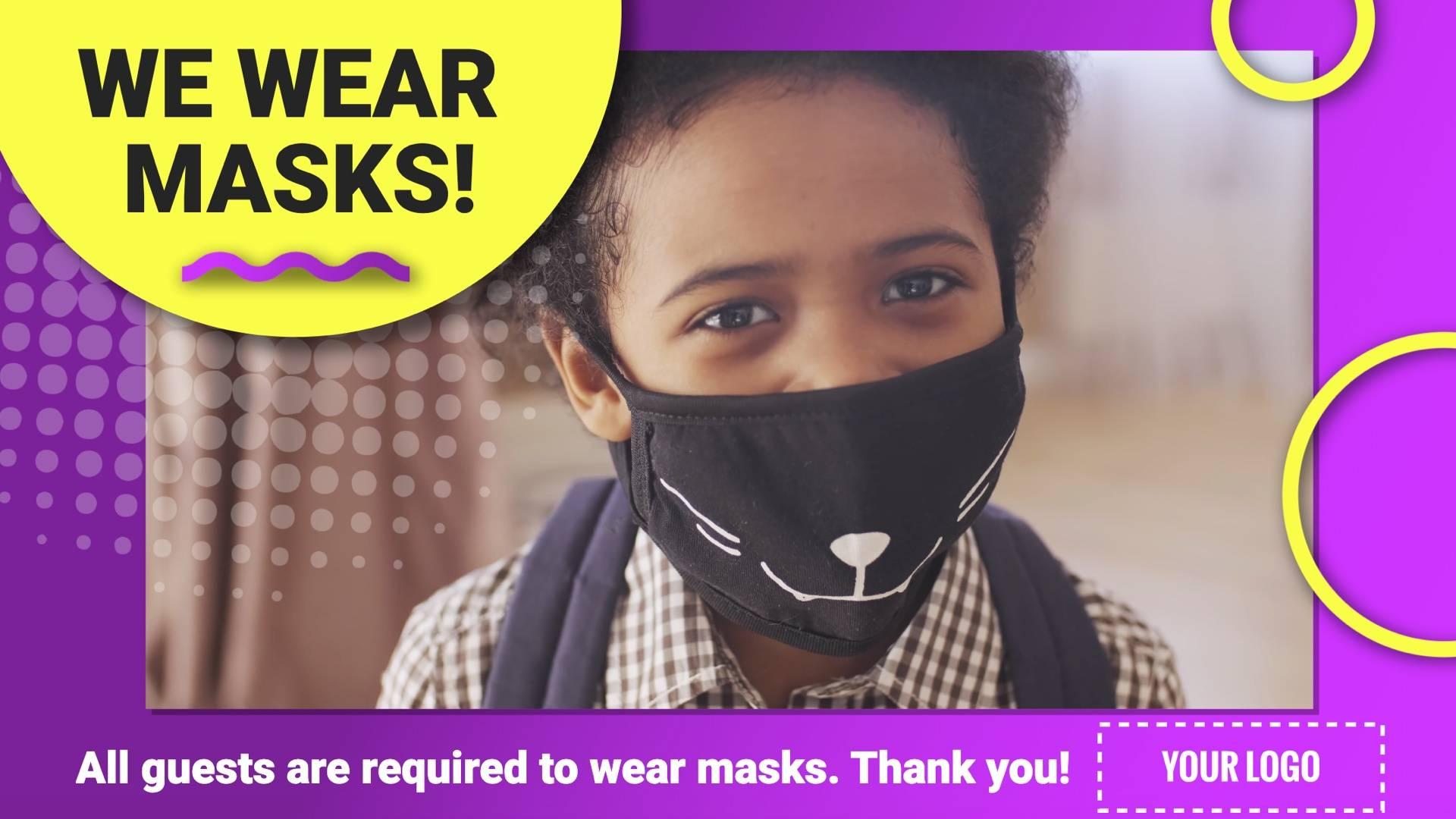 Wear Masks Digital Signage Template