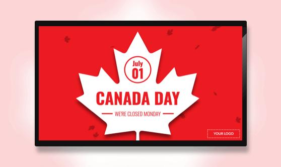 Holiday Canada Day Leaf