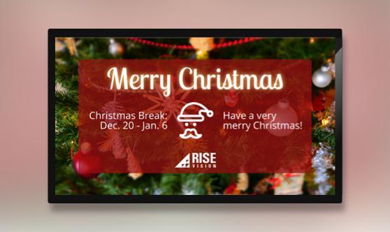 Christmas Break Digital Signage Template