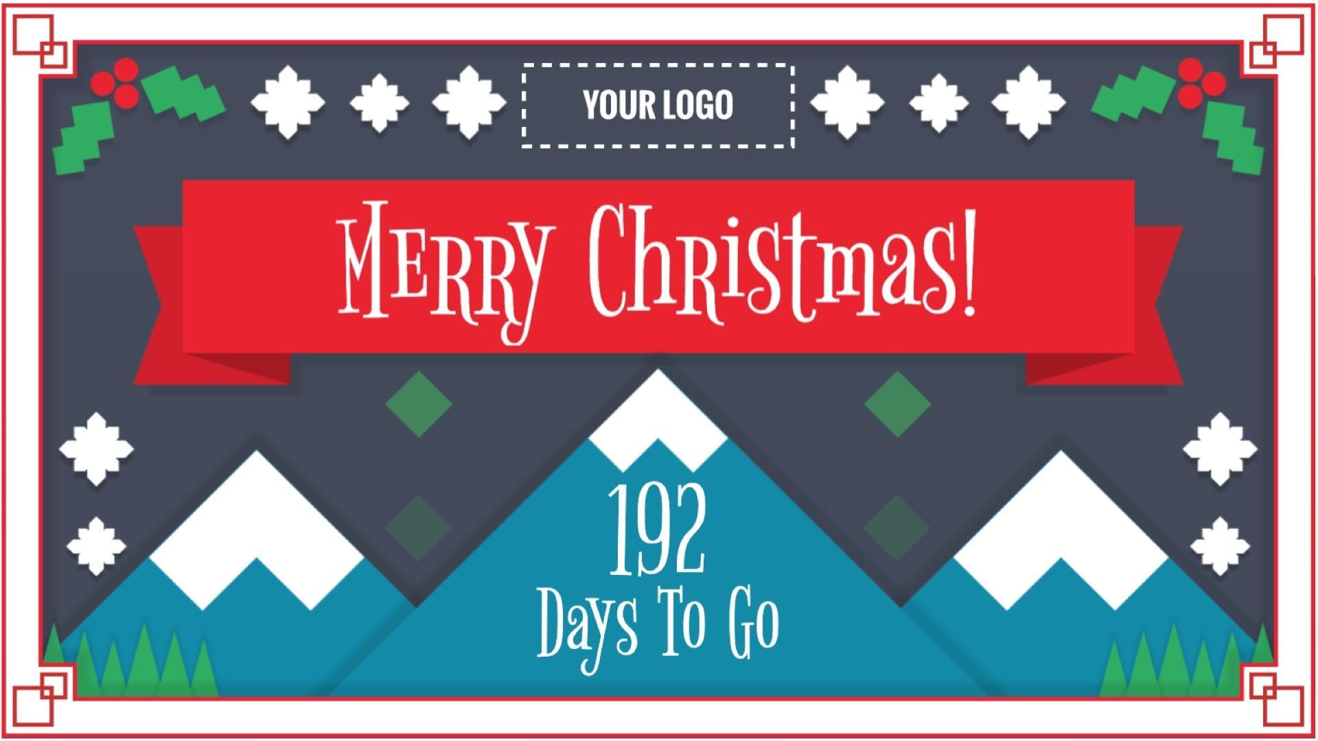 Christmas Countdown Digital Signage Template