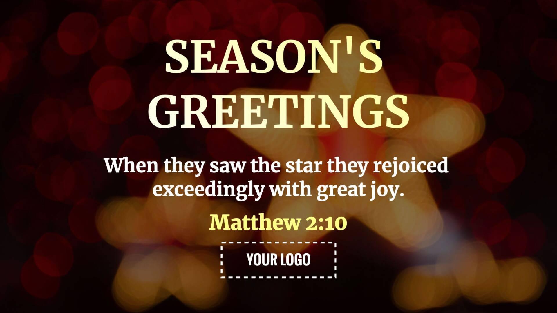 Holiday Christmas Star Digital Signage Template