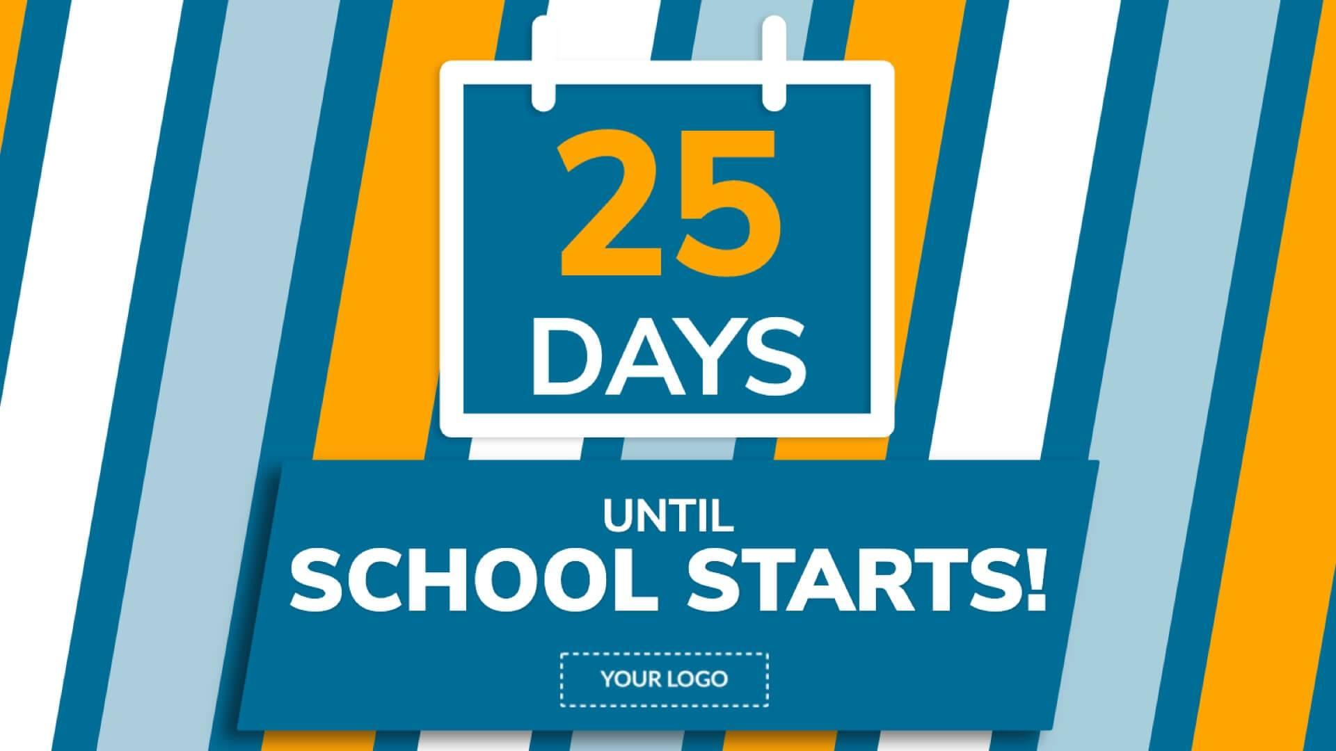 Back to School Countdown Digital Signage Template